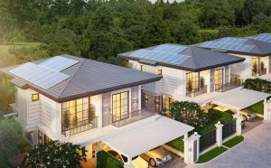Pattaya Tonrak house project with solar panel system in the roof