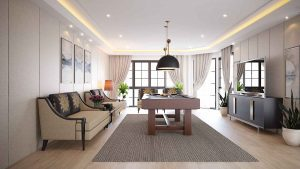 Pattaya Villa project Living area with pool table