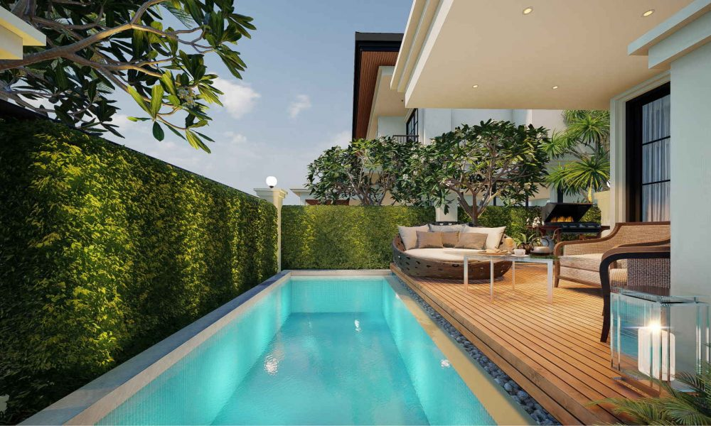 Pattaya Tonrak house project with swimming pool and terrace